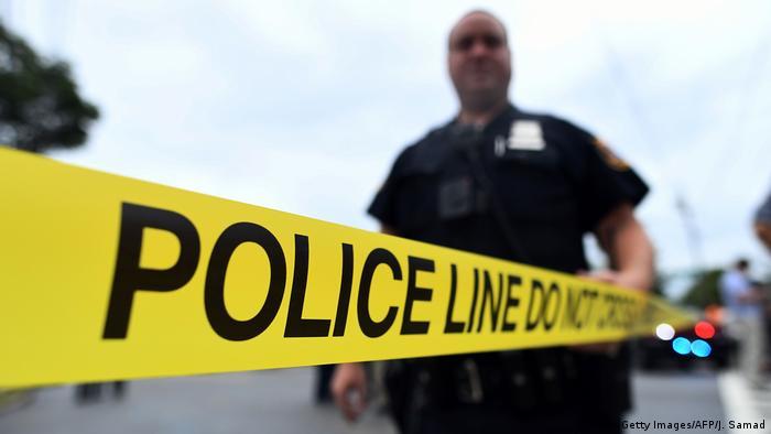 USA Polizei Absperrung