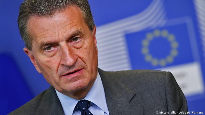 Unijny komisarz ds. budżetu Guenther Oettinger