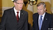 Lettland NATO Jaap De Hoop Scheffer bei Präsident Valdis Zatlers in Riga