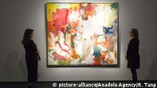Auktionshaus Christie's - Gemälde Untitled XXV von Willem de Kooning (picture-alliance/Anadolu Agency/R. Tang)