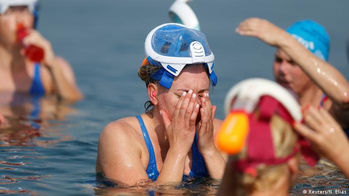 Totes Meer zwischen Jordanien und Israel - Umweltaktion zum Schutz gegen Austrocknung (Reuters/N. Elias)