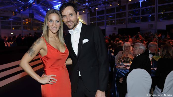 Sven Hannawald and girlfriend Melissa at the Ball des Sports 2016 in Wiesbaden (Imago/Sven Simon)