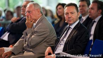 O Γιάννης Στουρνάρας με τον Βόλφανγκ Σόιμπλε στα χρόνια της ευρωκρίσης (2014)