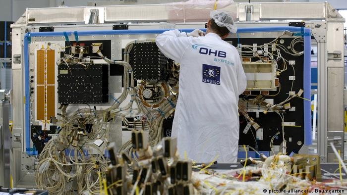 Deutschland Montage Navigationssatellit Galileo bei OHB Systems AG Bremen