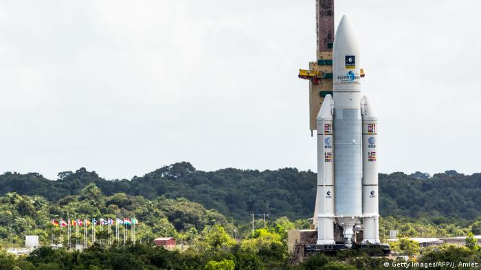 Ariane rocket ready for launch in Kourou (Getty Images/AFP/J. Amiet)