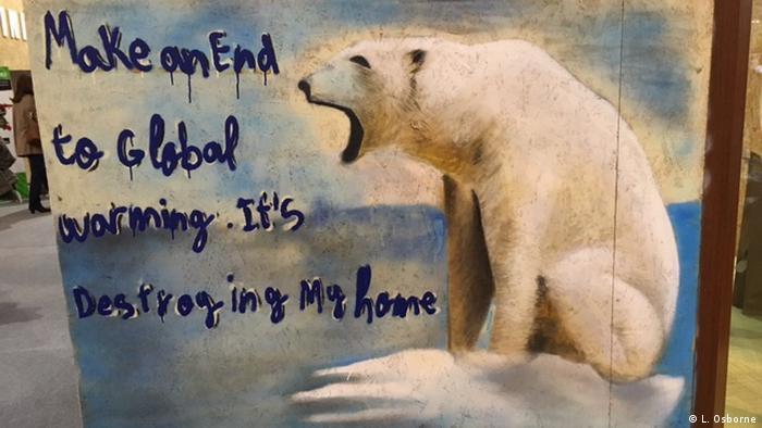 Marrakesch - COP22 Malerei eines Polarbärs