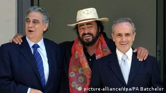 Placido Domingo, Luciano Pavarotti and Jose Carreras in London, 2006
