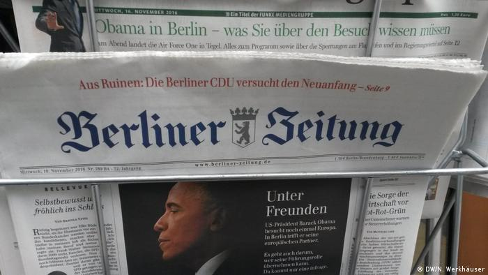 Capa do jornal Berliner Zeitung