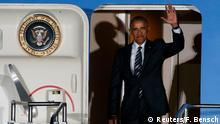 Deutschland Berlin Tegel Air Force One mit U.S Präsident Barack Obama