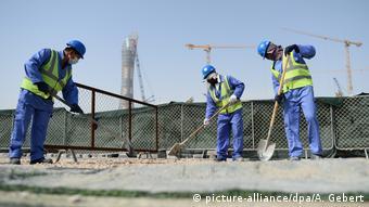 Katar Bauarbeiten für Fußball WM 2022 - Doha, Gastarbeiter