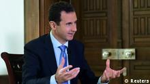 Syiren Präsident Bashar al-Assad Interview