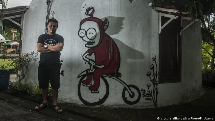 Indonesien Dorf Ngelepen - Teletubbies (picture-alliance/NurPhoto/P. Utama)