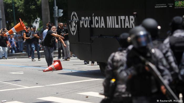 Anti-austerity protests in Rio de Janeiro, Brazil