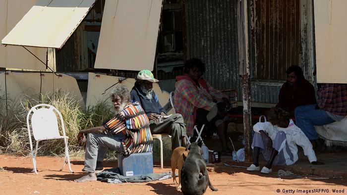 Australian Aborigines near Roebourne, Western Australia