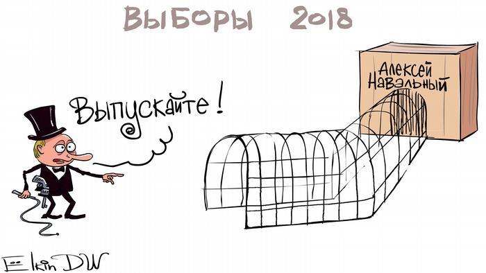Karikatur Russland Präsidentenwahl von Sergey Elkin