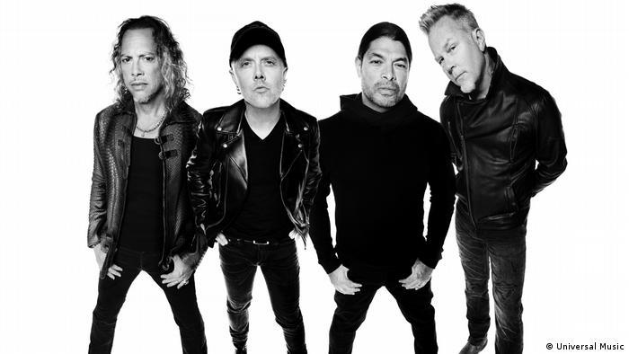 Membros do Metallica: Kirk Hammett, Lars Ulrich, Robert Trujillo e James Hetfield