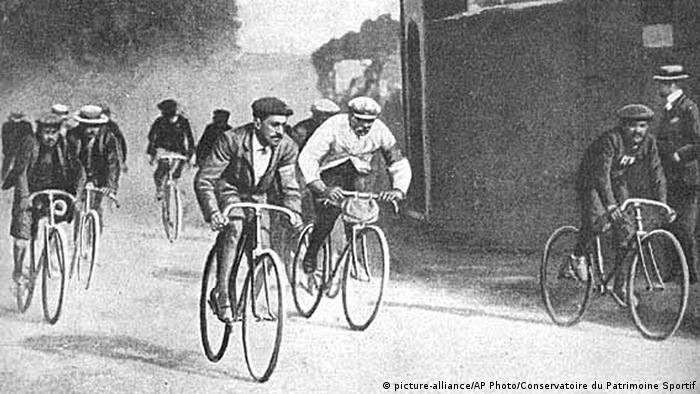 Corrida de bicicletas em 1903