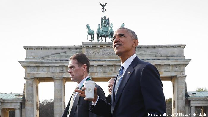 Deutschland Barack Obama am Brandenburger Tor
