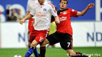Mladen Petrić u dresu HSV-a na utakmici protiv Bayera iz Leverkusena (13.9.2008.)