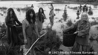 Filmszene aus dem tschechischen Film Marketa Lazarová von Regisseur Frantisek Vlácil,