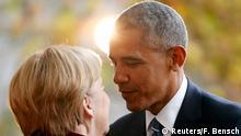 Deutschland | US-Präsident Obama wird von Bundeskanzlerin Merkel in Empfang genommen