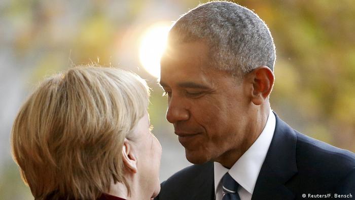 Ангела Меркель и Барак Обама