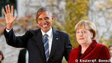 Deutschland   US-Präsident Obama wird von Bundeskanzlerin Merkel in Empfang genommen