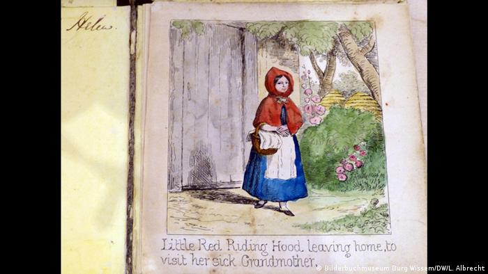 Early English version of the Little Red Riding Hood fairytale (Bilderbuchmuseum Burg Wissem/DW/L. Albrecht)