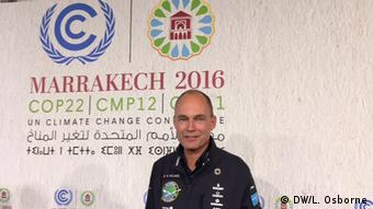 Bertrand Piccard at the Momentum for Change award ceremony at COP22 in Marrakesh (DW/L. Osborne)