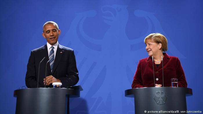 Deutschland Pressekonferenz vom US-Präsident Obama in Berlin