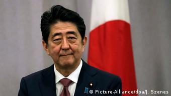 Japan Premierminister Shinzo Abe in New York (Picture-Alliance/dpa/J. Szenes)