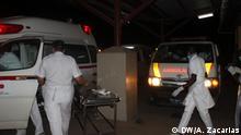18.11.2016+++ Opfer der Explosion eines Erdöl-Tanklastwagens kommen an im Krankenhaus in Tete, Mosambik