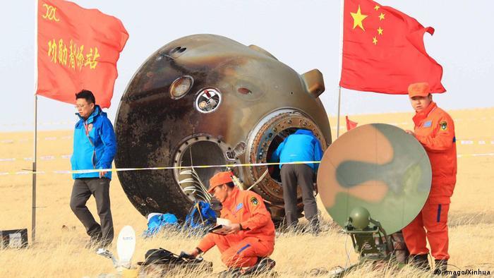 China Landung der Shenzhou 11 Raumkapsel (imago/Xinhua)