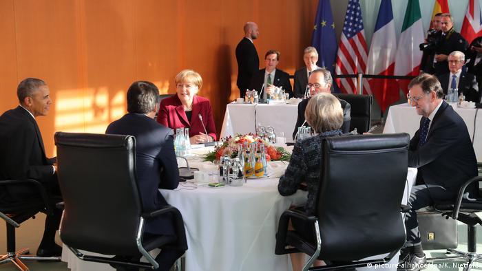 Обама, Меркель, Мэй, Олланд, Рахой, 18.11.2016