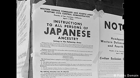Zweiter Weltkrieg Internierung japanischstämmiger Amerikaner Anweisung (Public Domain)