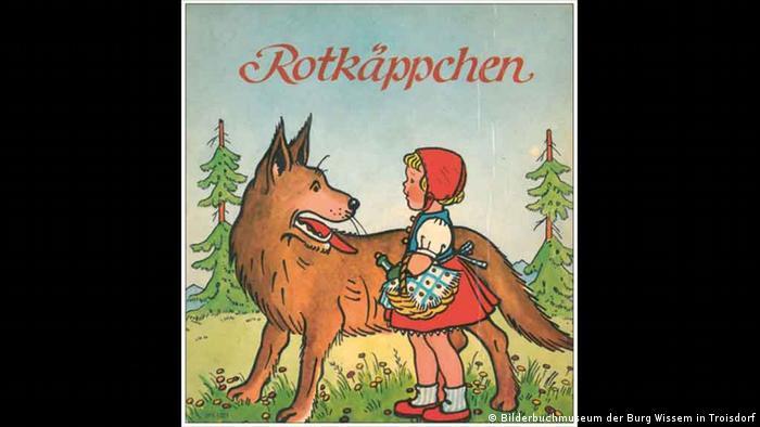 Bild unbekannter Illustrator , Bilderbuch der Schreiber-Reihe, Mitte der 30er Jahre des20. Jahrhunderts (Bilderbuchmuseum der Burg Wissem in Troisdorf)