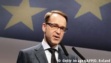 18.11.2016+++ Jens Weidmann, President of the Deutsche Bundesbank addresses the audience during the European Banking Congress EBC in Frankfurt, Germany, on November 18, 2016. / AFP / DANIEL ROLAND (Photo credit should read DANIEL ROLAND/AFP/Getty Images)