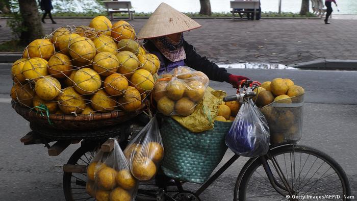 Общество: Street vendor in Vietnam (Getty Images/AFP/D. Nam)
