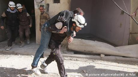 Syrien Zerstörung in Alepppo (picture alliance/abaca/J. al Rifai )