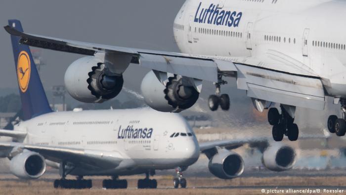 Два лайнера авиакомпании Lufthansa