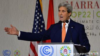 UN Klimakonferenz COP22 in Marokko John Kerry (Getty Images/AFP/STR)