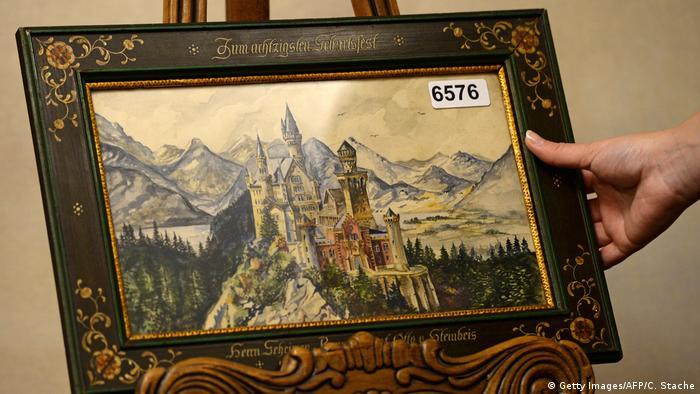 Hitler painting of castle Neuschwanstein