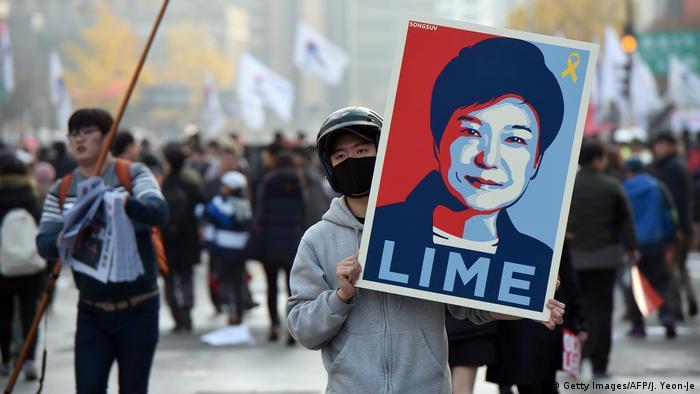 Südkorea Massenproteste in Seoul gegen Präsidentin Park Geun Hye