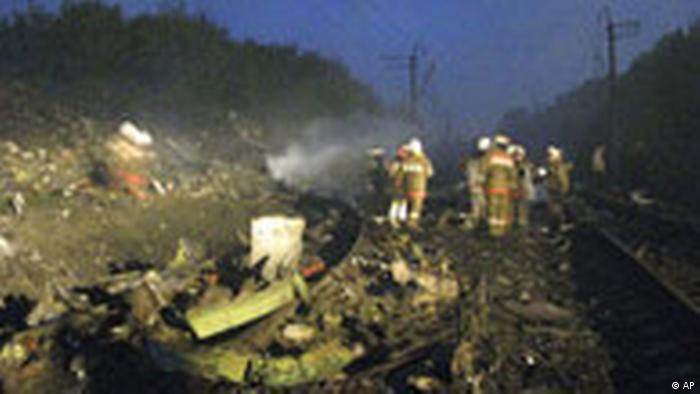 Flugzeugunglück in Russland September 2008 (AP)