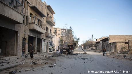 Syrien Zerstörung in Bab al-Nayrab Aleppo (Getty Images/AFP/K. Al-Masri)