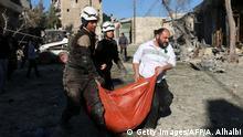Syrien Aleppo nach Luftangriffen in Bab al-Nayrab