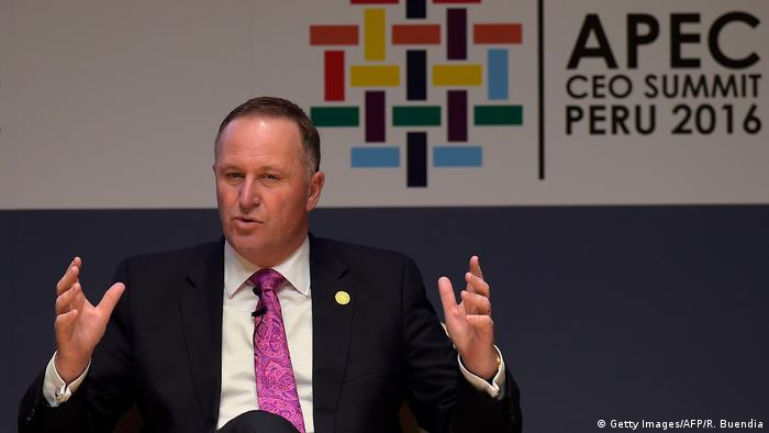 Peru APEC-Gipfel John Key (Getty Images/AFP/R. Buendia)