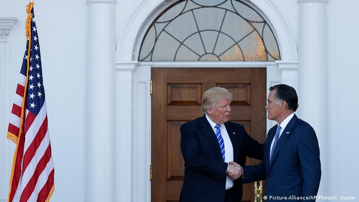 USA Mitt Romney Donald Trump Treffen (Picture-Alliance/AP Photo/C. Kaster)