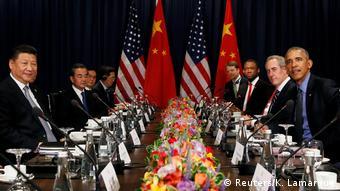 Peru Treffen Barack Obama und Xi Jinping in Lima (Reuters/K. Lamarque)