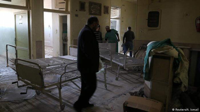 Syrien Aleppo Zerstörung nach Angriff auf Krankenhaus